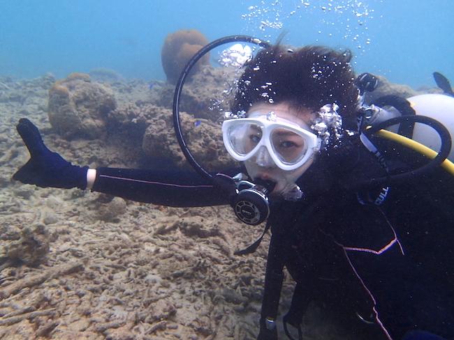【石垣島】ビーチ体験ダイビング水中2018.4.16