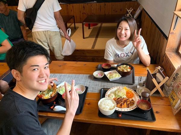 石垣島オープンウォーター講習ランチ2019年4月11日