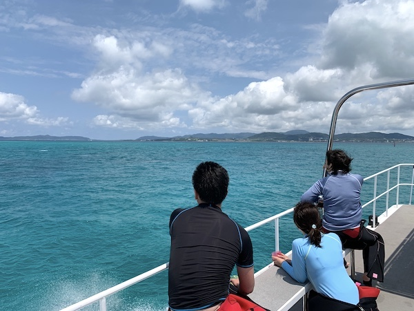 石垣島オープンウォーター講習船上2019年4月14日
