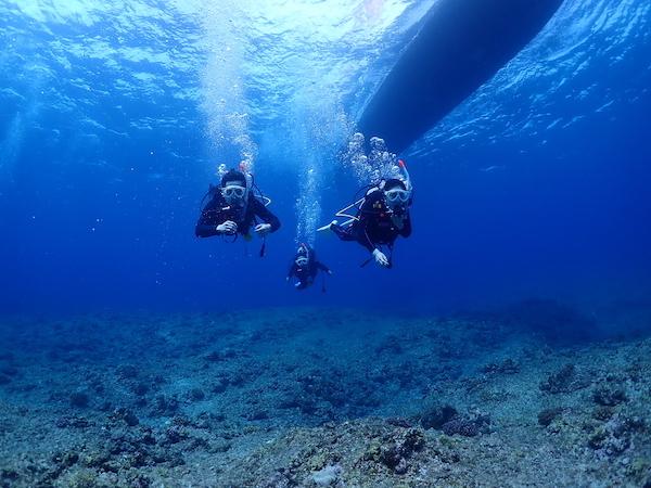 石垣島オープンウォーター講習黒島での中性浮力2019年4月14日