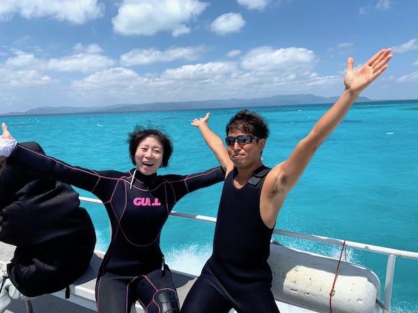 石垣島オープンウォーター講習の黒島航路2019年4月17日
