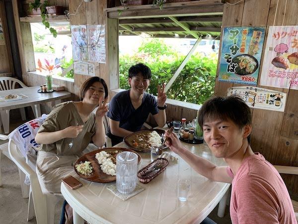 石垣島PADIオープンウォーター講習ランチ2019年5月3日