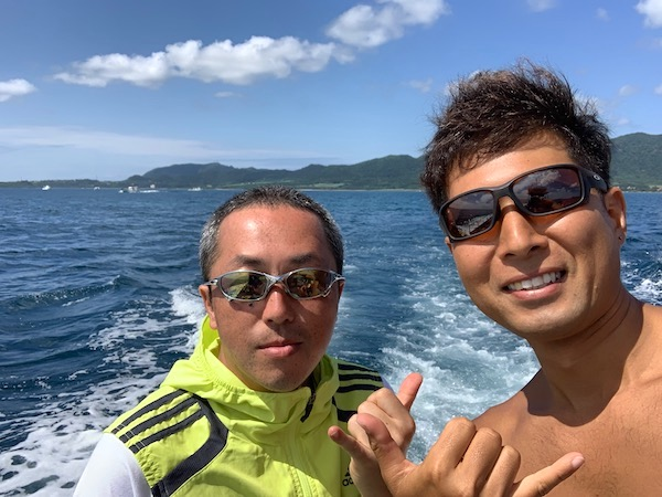 石垣島PADIオープンウォーター講習2019年5月8日船上