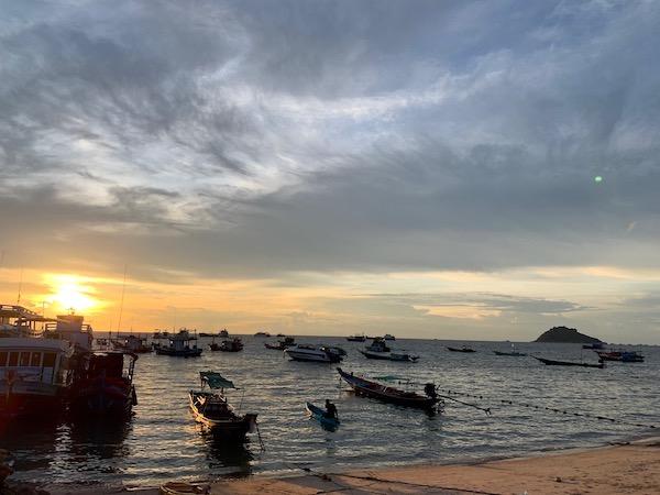 タイ(タオ島)の夕焼け