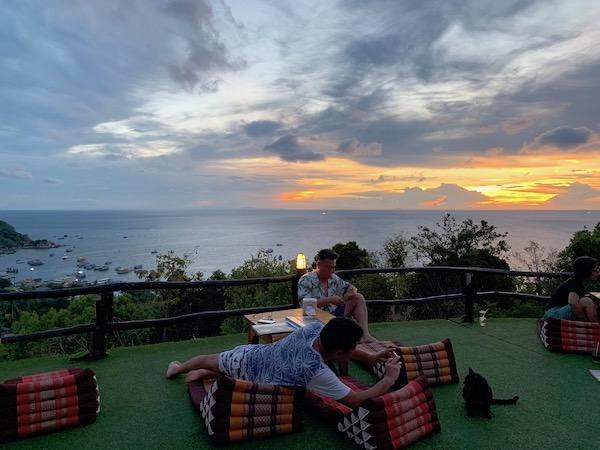 タイ(タオ島)の夕日