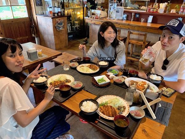 石垣島PADIオープンウォーター講習のランチ2019年6月15日