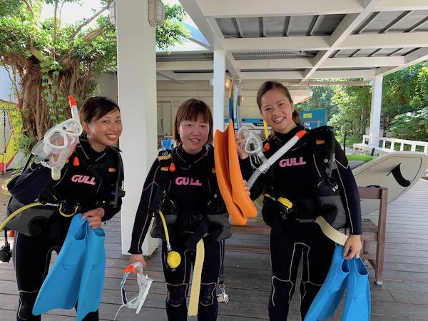 石垣島PADIオープンウォーターの限定水域2019年6月30日