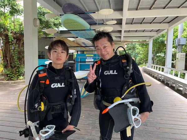 沖縄県石垣島PADIオープンウォーターの限定水域2019年7月23日
