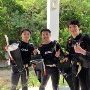 沖縄県石垣島PADIオープンウォーターの限定水域2019年8月