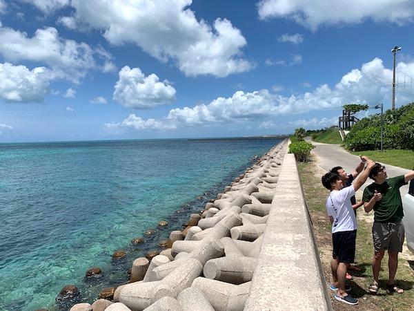 沖縄県石垣島PADIオープンウォーター初日の昼休憩2019年8月