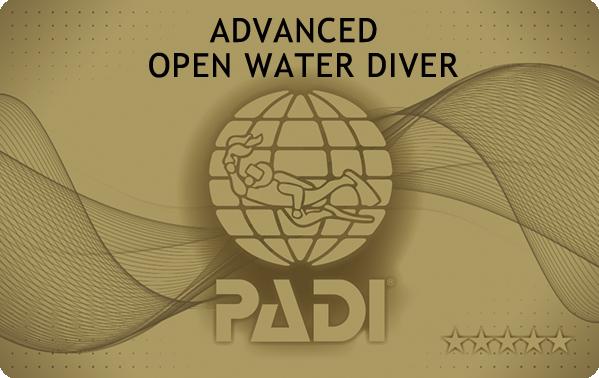 PADIアドバンスド・オープンウォーターダイバーのゴールドカード