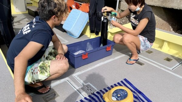 MOANAダイビングカレッジ石垣島緊急酸素講習